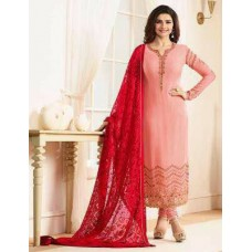 5557 PEACH KASEESH JANNAT EMBROIDERED GEORGETTE PRACHI DESAI STRAIGHT SALWAR SUIT