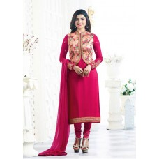 BRIGHT FUCHSIA KASEESH MAHARANI JACKET STYLE PARTY WEAR SUIT