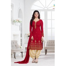 5013 RED KASEESH PRACHI GEORGETTE PARTY WEAR SALWAR KAMEEZ SUIT