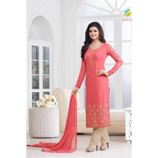 5016 PEACHY PINK KASEESH PRACHI GEORGETTE PARTY WEAR SALWAR KAMEEZ SUIT