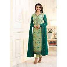 6364 SAGE GREEN KASEESH VICTORIA PARTY WEAR STRAIGHT CHURIDAR SALWAR KAMEEZ