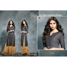 2010 GREY KAIRA STRAIGHT COTTON READY MADE KURTI