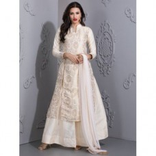 READYMADE IVORY BROCADE TOP WITH LENGHA AND CHURIDAAR