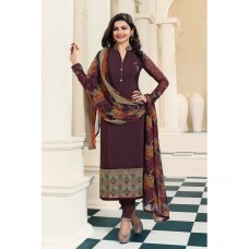 CHOCOLATE BROWN KASEESH SILKINA ROYAL CREPE PARTY WEAR SUIT
