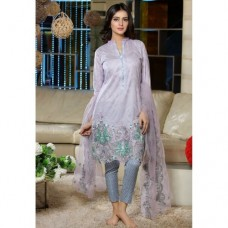 EA-33-A LIGHT PURPLE ESHA AISHA SUMMER LAWN EMBROIDERED SALWAR SUIT