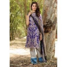 EA-38 BLUE ESHA AISHA LAWN EMBROIDERED SALWAR SUIT