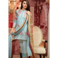 PAKISTANI LIGHT BLUE UNSTITCHED SUIT