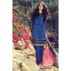 BLUE MARIA B LAWN EMBROIDERED READY MADE SALWAR KAMEEZ SUIT