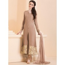 FAWN CLASSIC LONG LENGTH SLIT STYLE READY MADE DRESS