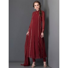GORGEOUS NEW RED PEAR LONG LINE SLIT STYLE READY MADE DRESS