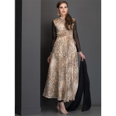 STUNNING BEIGE ANIMAL PRINT SKATER STYLE READY MADE DRESS