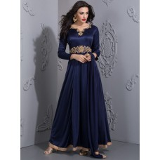 ROYAL BLUE STUNNING EMBELLISHED EVENING MAXI GOWN(READY MADE)