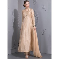 STUNNING BEIGE SUMMER TONE MAXI READY MADE DRESS