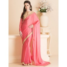 IDS-15 PEACH DESIGNER PARTY WEAR SAREE (READY MADE)