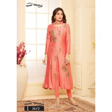 CORAL PEACH EMBROIDERED READY MADE SALWAR SUIT