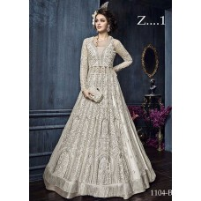 22004-D WHITE EMBROIDERED INDIAN BRIDAL WEDDING READY MADE LEHENGA