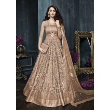 22002-B LIGHT RUST HEAVY EMBROIDERED INDIAN BRIDAL WEDDING READY MADE LEHENGA