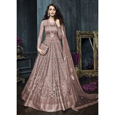 22002-A NUDE HEAVY EMBROIDERED INDIAN BRIDAL WEDDING READY MADE LEHENGA