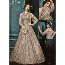 22003-B LIGHT RUST HEAVY EMBROIDERED INDIAN BRIDAL WEDDING READY MADE LEHENGA