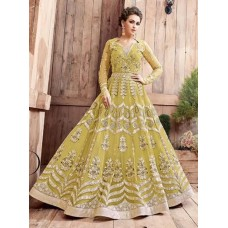 BUTTERMILK LIMELIGHT ZOYA ENGAGED YELLOW CITRON HEAVY EMBELLISHED GOWN